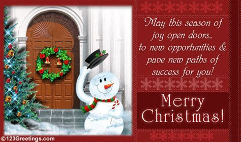 Wishing You Success  Free Business Greetings eCards