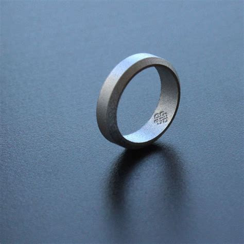 Silver silicone wedding ring   stay safe, stay stylish #