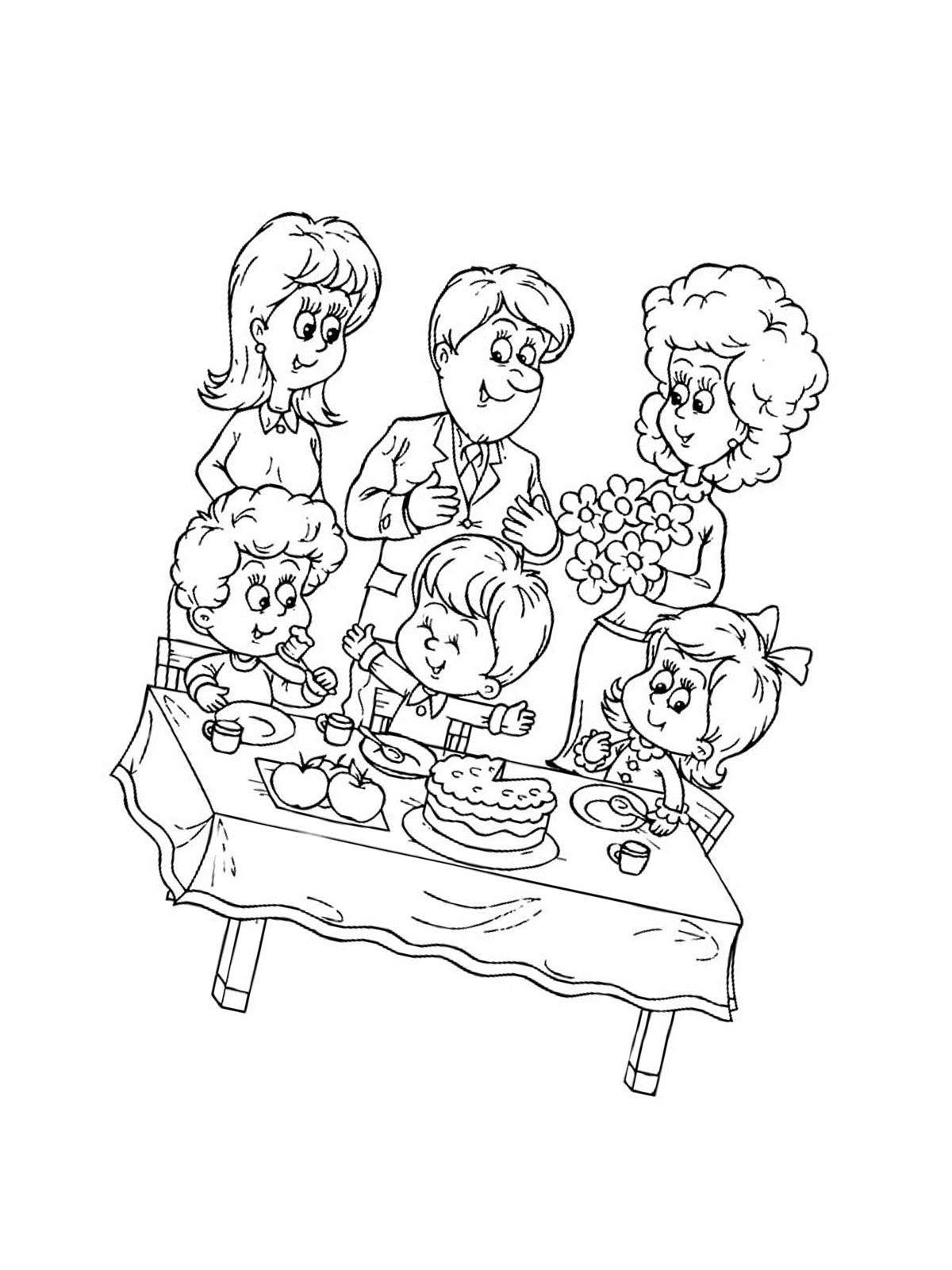 ausmalbild geburtstag opa - cartoon-bild