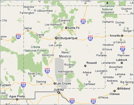 Campus Map: Southern New Mexico Map