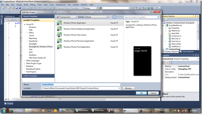 WP71 thumb Windows Phone 7 Line of Business App Dev :: Consuming an Azure WCF REST + JSON Service