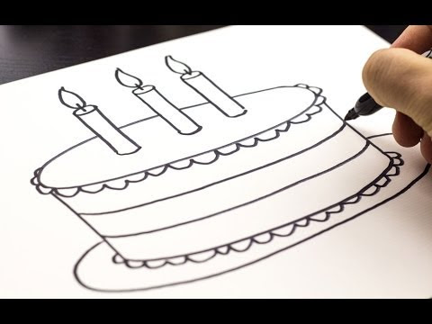How To Draw A Cake Step By Step Drawing Guide By Dawn