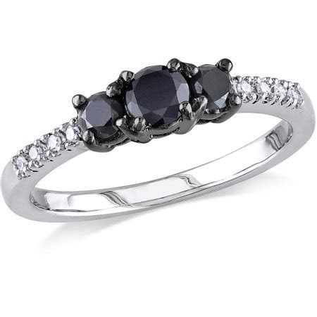 1/2 Carat T.W. Black and White Diamond Sterling Silver