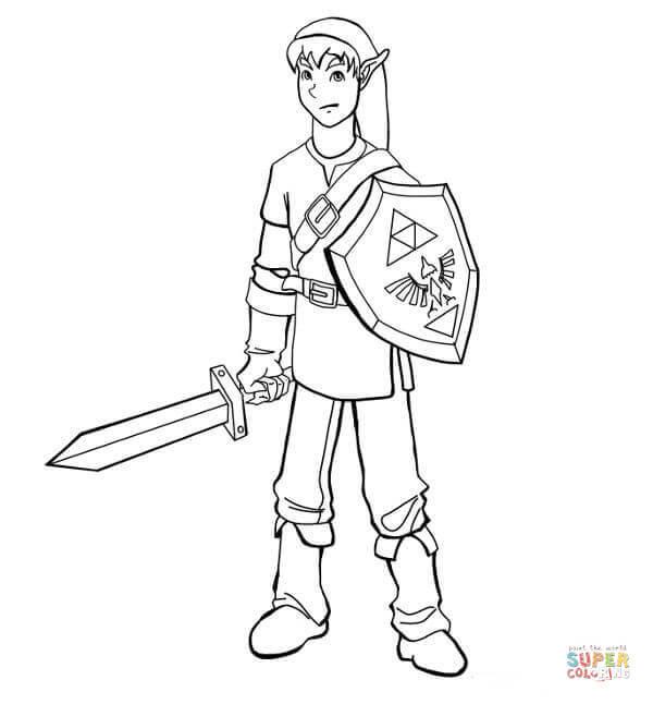 Dibujos De The Legend Of Zelda Para Colorear Páginas Para Imprimir