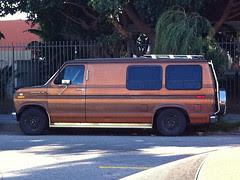 Jimmy's van in it's usual spot on Rose