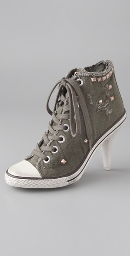Ash Stone High Heel Sneakers