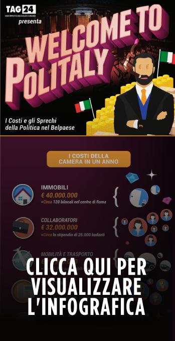 Infografica su costi della Politica e Sprechi in Italia