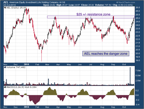 1-year chart of American Equity (NYSE: AEL)