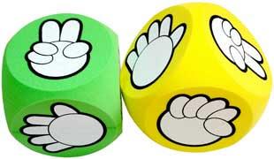 game dice rock paper scissors stone