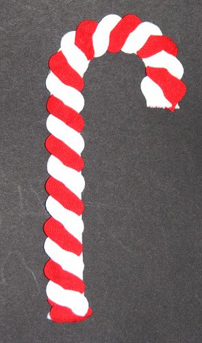 25 Days of Hand Crafted Gifts & Ornaments - Ric Rac Candy Cane 011
