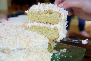 The best made from scratch triple coconut cake