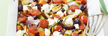 Feta, Vegetable And Rice Bake