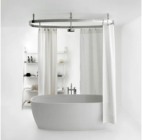 Shower Curtain Rail from Agape Design - Cooper curved railing is ...