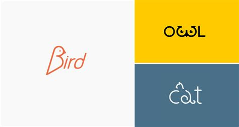 clever animal logos  show  shapes   names