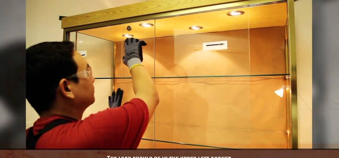 How to Install a sliding glass cabinet door « Construction ...