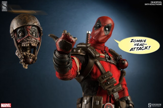 Sideshow Exclusive Deadpool Headpool Flying Zombie Head Figure Accessory