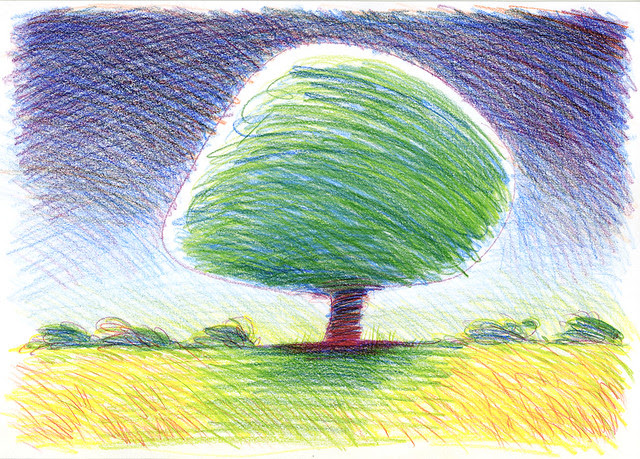 Tree: Colour Scribble