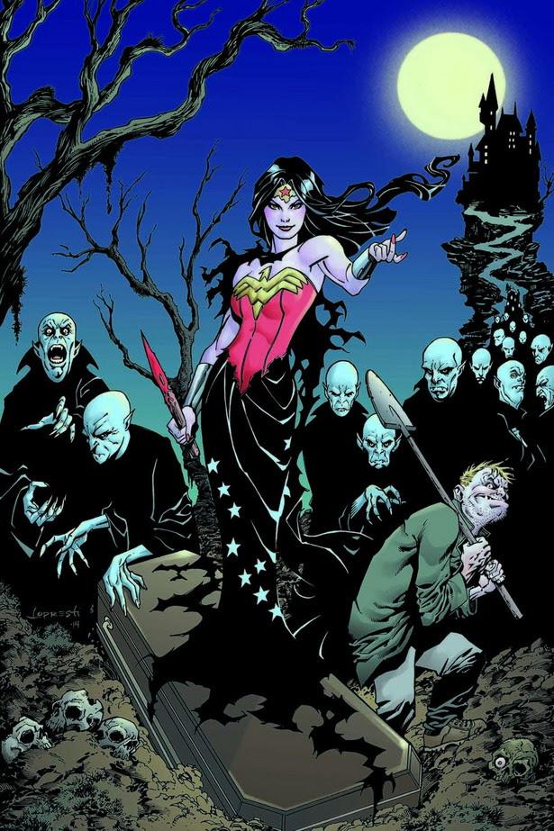 Homenaje a Buffy la Cazadora de Vampiros en WONDER WOMAN #35 por Aaron Lopresti