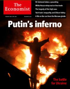 ECONOMIST jew pigs BLAME PUTIN for THEIR SABOTAGE & HATEMONGERING feb 2014