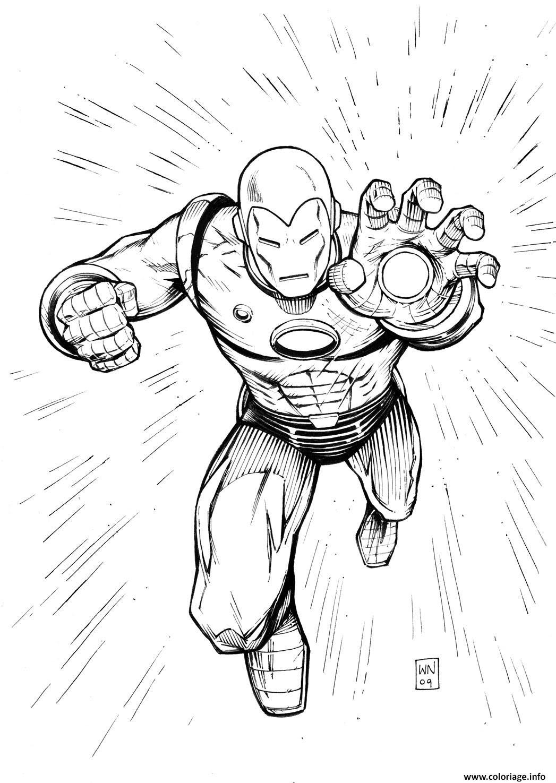 Coloriage Iron Man 29 dessin