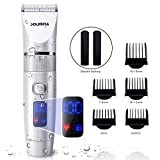 #5: SOLIMPIA Mens Hair Clipper Cordless Hair Trimmer Kit for Men, Pro Titanium Ceramic Blade Electric Hair Trimmer with LED Display and USB Lithium Battery