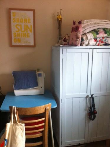 Sewing corner by potteryrachel