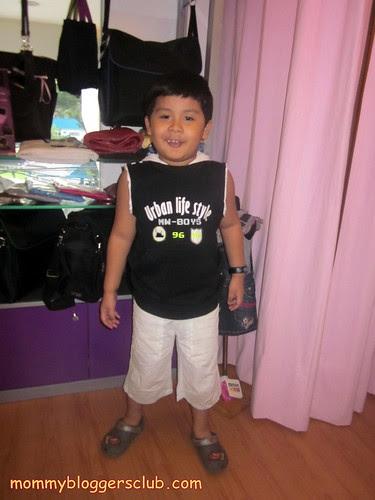 Jed wearing Motion Wear for kids
