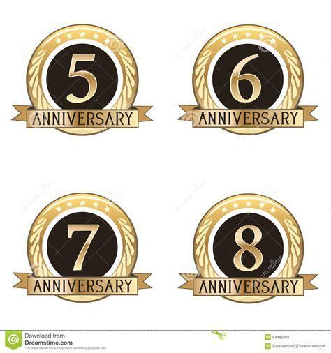 Set Of Anniversary Seals Stock Illustration   Image: 54485988