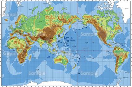 世界地図のイラスト無料
