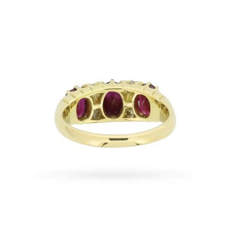 Vintage Ruby and Diamond Ring, Circa 1970s   Farringdons