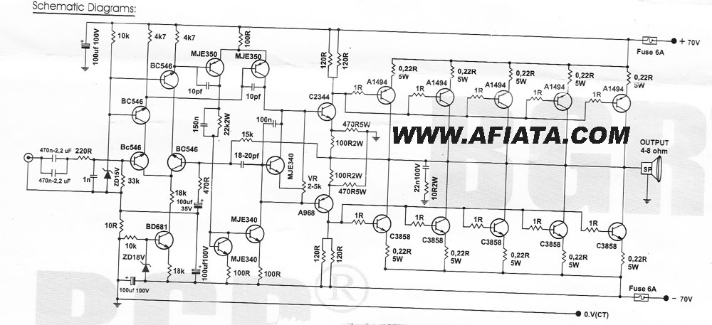 1000 Watts Power Amplifier Schematic Diagrams - Auto Electrical