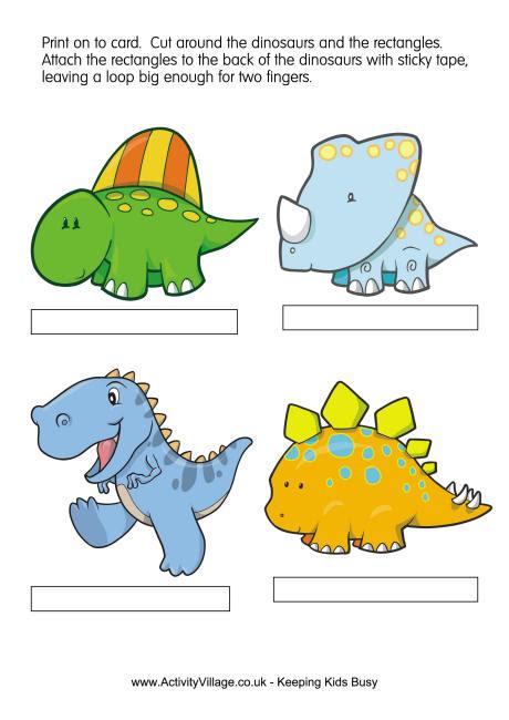 Dinosaurs finger puppets 1