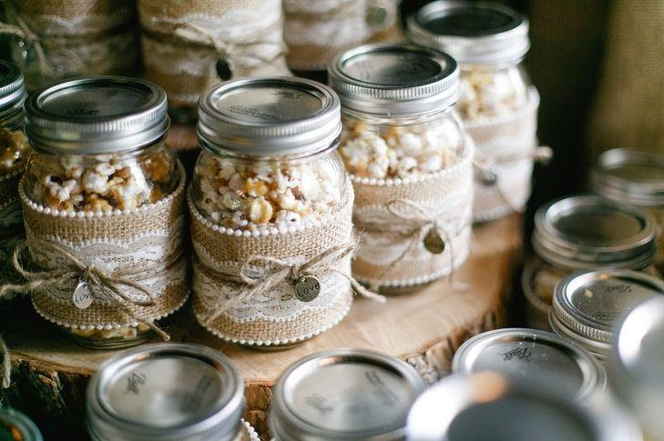 Food Favor Diy Popcorn Mason Jar Wedding Favors 2518487 Weddbook
