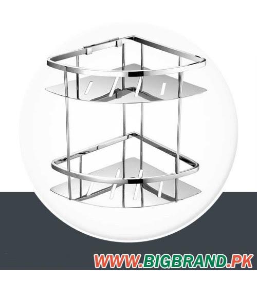Wesda 2 Layer Stainless Steel Bathroom Corner Shower Shelf