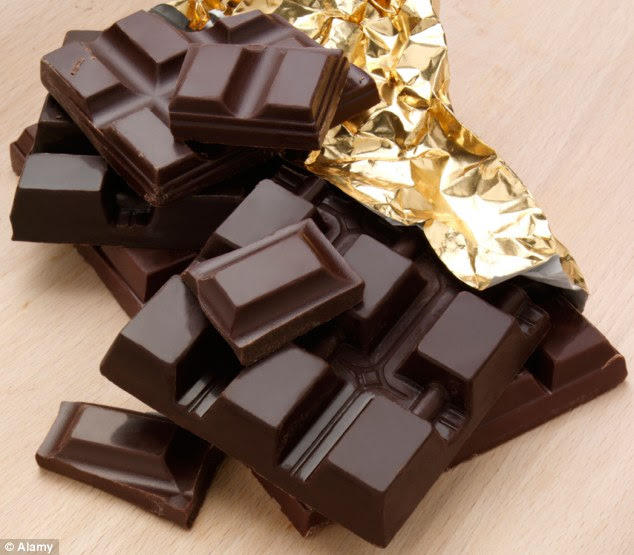 Hurrah! Chocolate is an excellent quick fix for tiredness - but in order to get the right effect go for over 70 per cent dark chocolate
