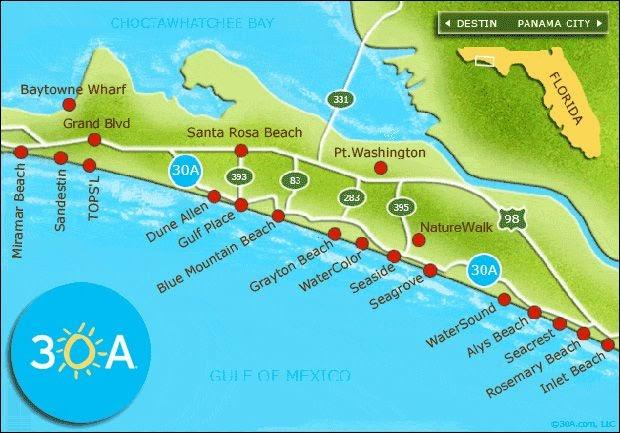 Map Of Florida Panhandle Beaches Map Of Beaches In Florida Panhandle   Florida Map 2018