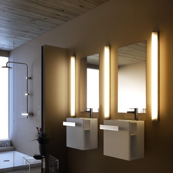 Bathroom contemporary wall light - MANHATTAN T5 by Joan Gaspar ...