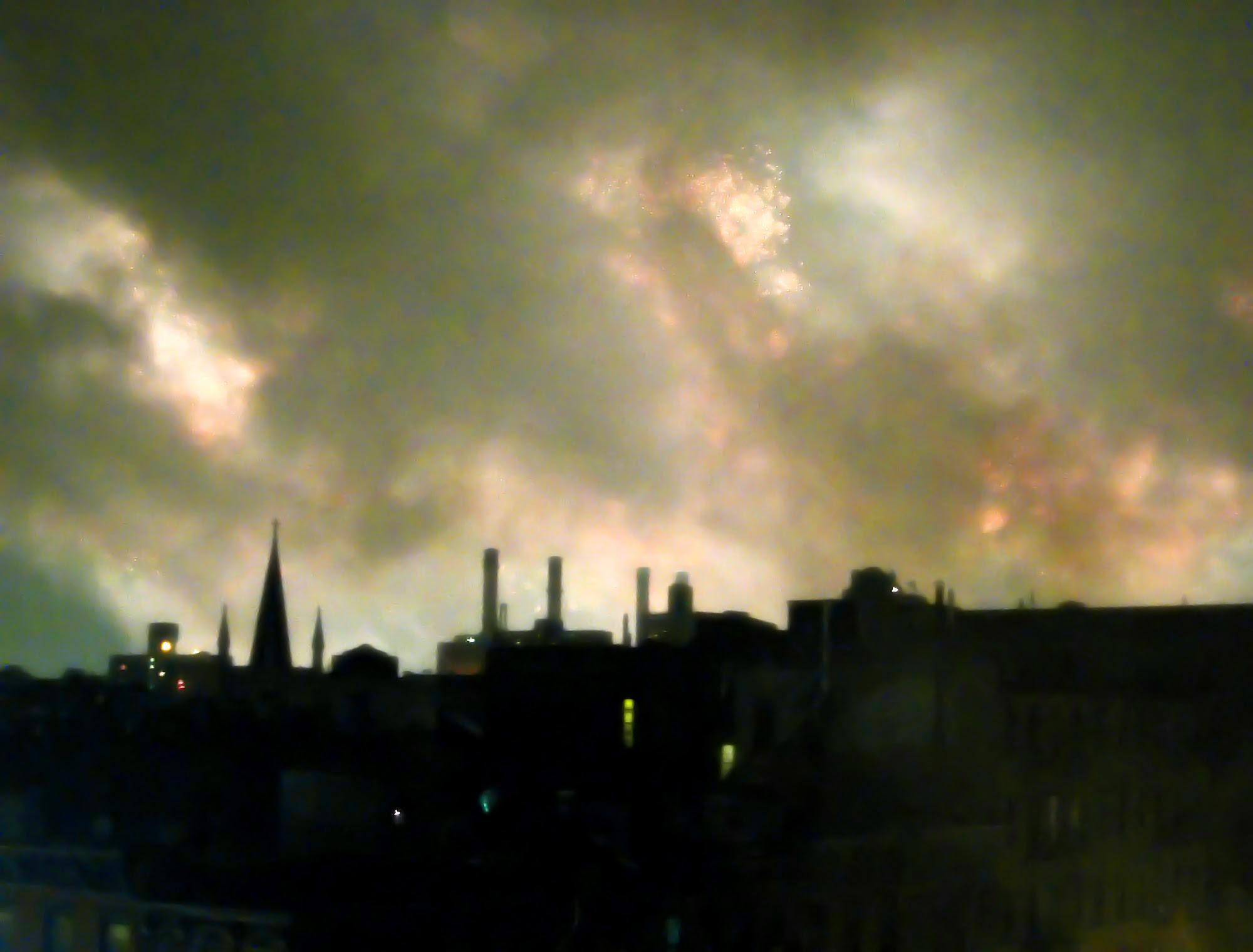 The East Village burns
