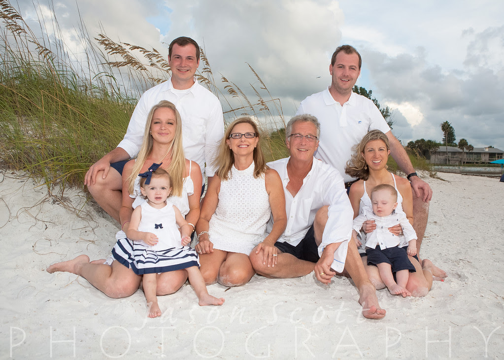 Wood/Strittmater Family at the Sea Club V on Siesta Key, August 2012
