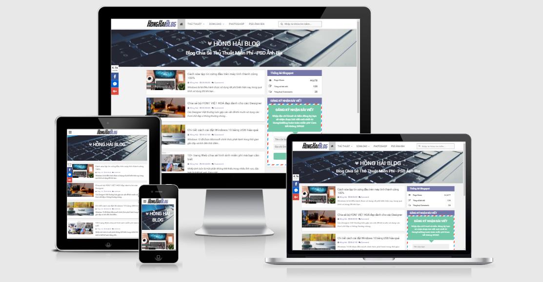 Template Blogspot Tuyệt Đẹp 2017