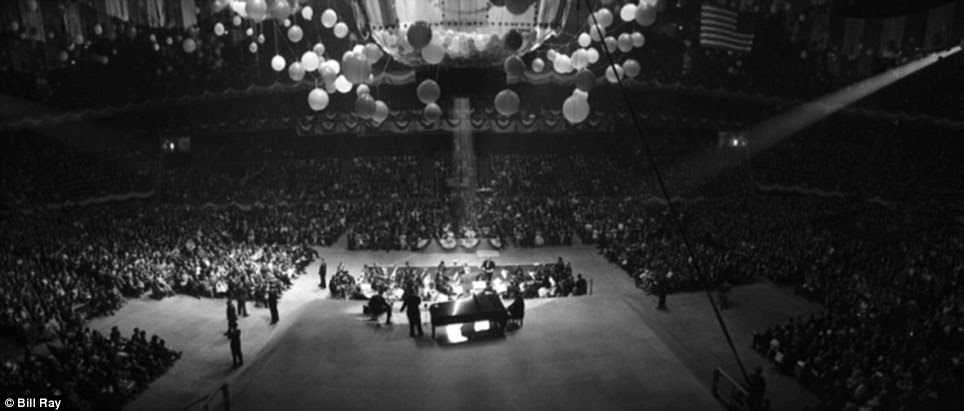 The stage and seating at Madison Square Garden during a 'Birthday Salute' in honor of JFK, New York, May 19, 1962