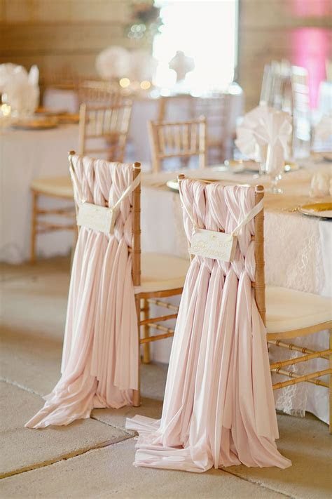 12 Beautifully Draped Fabric, Wedding Chair Ideas   Mon