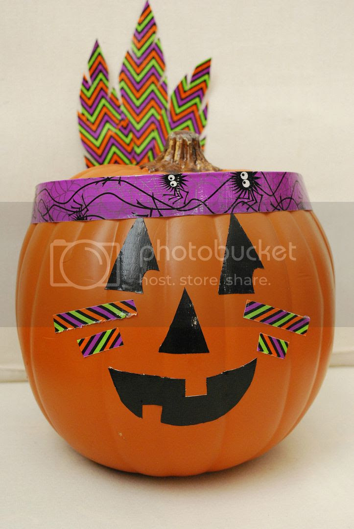 The Shabby Nest Native American Jack o Lantern photo ShabbyNestDuckTapePumpkin.jpg