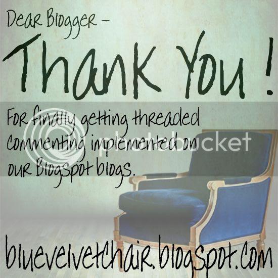 Blogger Thank You from Blue Velvet Chair