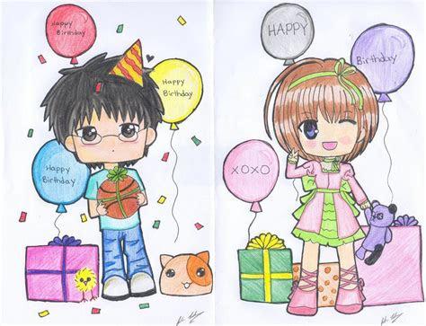 birthday anime chibi google search  draw pinterest