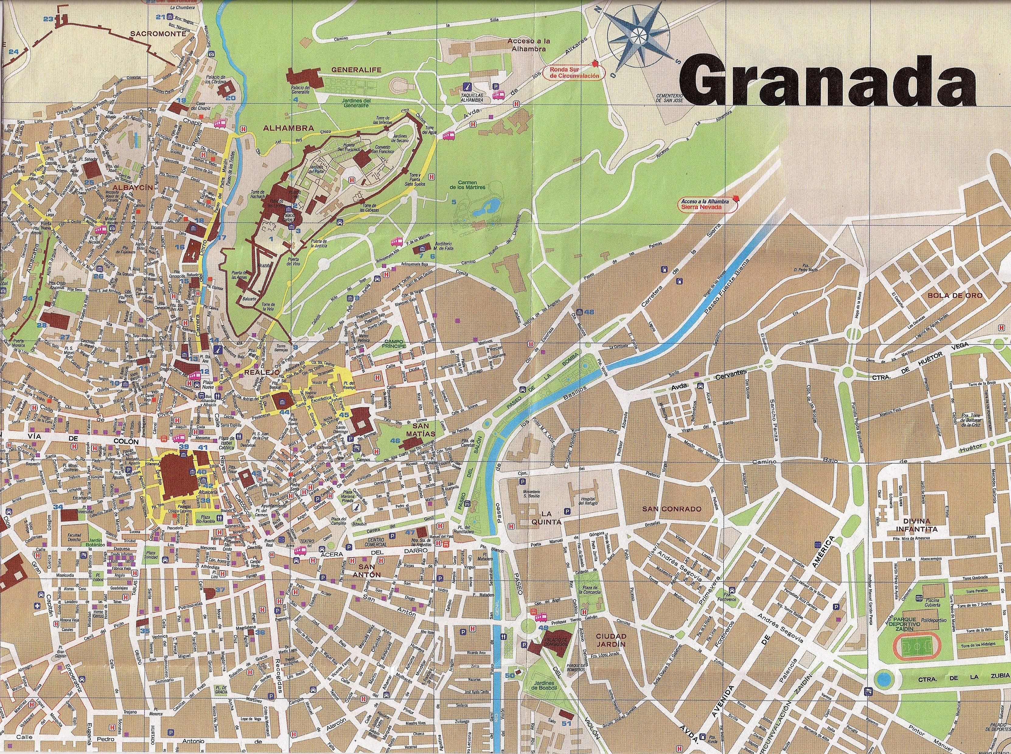 человек имеет гранада испания на карте вот как