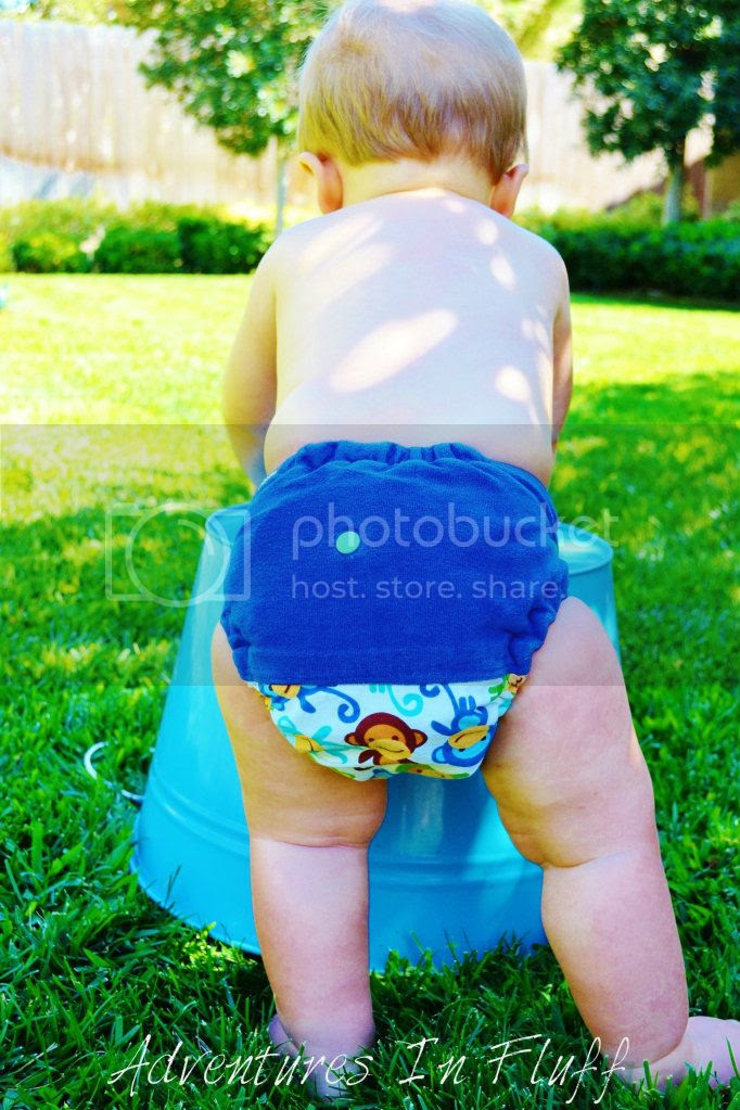 Barnyard Bummz One-Size Fitted Cloth Diaper - On my baby