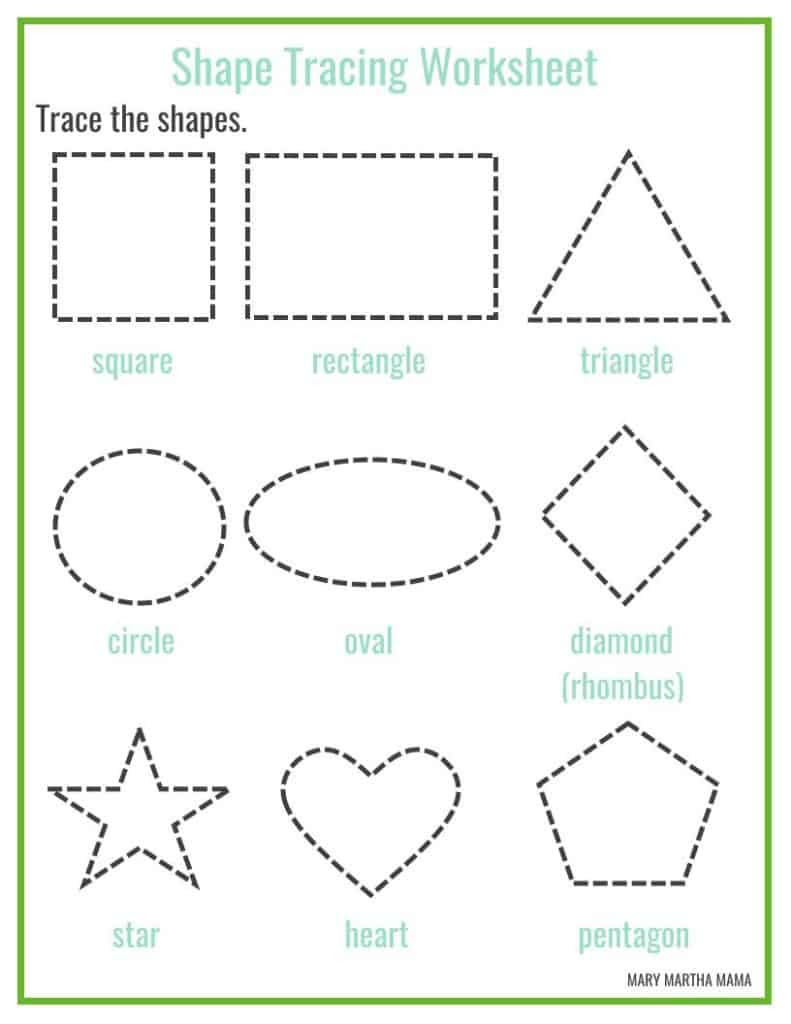 preschool printables - Mary Martha Mama
