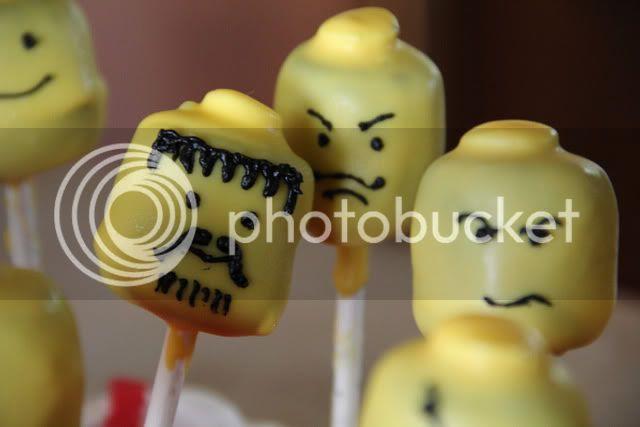 mean guy lego cake pops