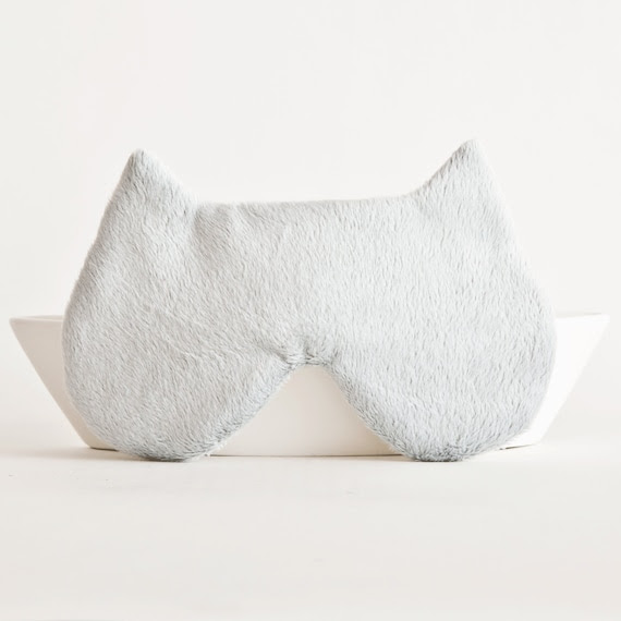 Cat Sleep Mask. Gray